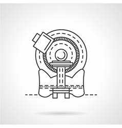 Ct scanner line icon vector