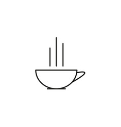 cup of hot cofee icon vector image