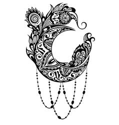 Decorative moon vector image