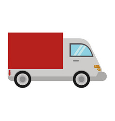 delivery truck transport image vector image