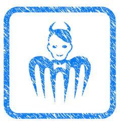 Devil spectre framed stamp vector