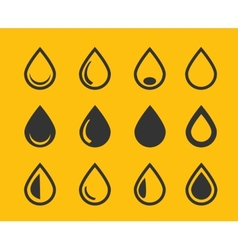 Drop icons set vector image vector image