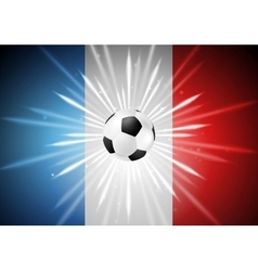 European Football Championship in France vector image
