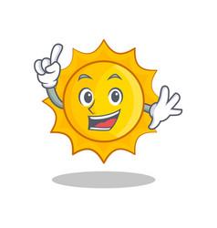 finger cute sun character cartoon vector image