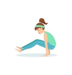 Firefly tittibhasana yoga pose demonstrated by the vector