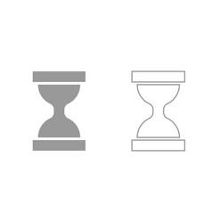 hourglass grey set icon vector image