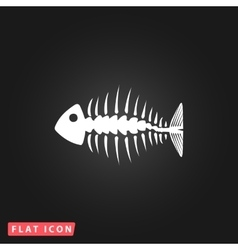 icon of fishbone vector image vector image