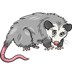 opossum animal cartoon vector image