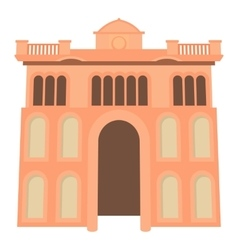 Palace icon cartoon style vector
