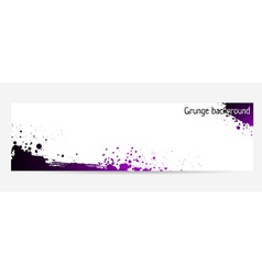 Purple grunge banner vector