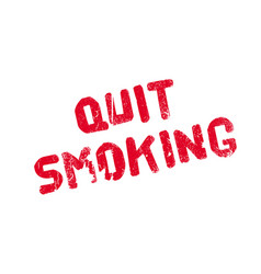 Quit smoking rubber stamp vector