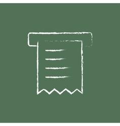 Receipt icon drawn in chalk vector