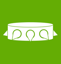 rock collar icon green vector image vector image