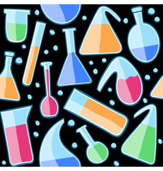 Seamless pattern laboratory glass vector image vector image