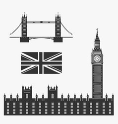 Set of symbols of great britain vector