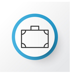 Suitcase icon symbol premium quality isolated vector