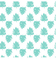 Tropical leaf brush seamless pattern vector