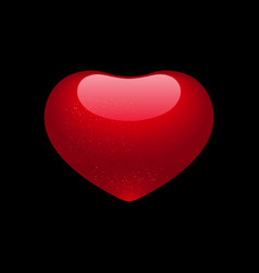 valentine heart isolated on black background vector image vector image
