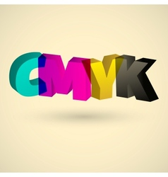Cmyk letters design art vector
