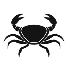 Fresh crab icon simple style vector