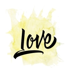 Love calligraphy lettering t-shirt vector