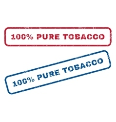 100 percent pure tobacco rubber stamps vector