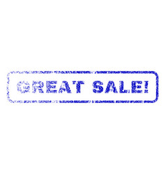 great sale exclamation rubber stamp vector image