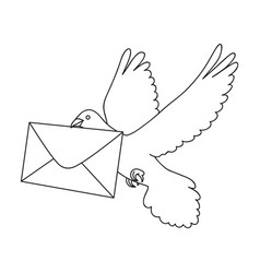 post pigeonmail and postman single icon in vector image