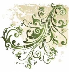 grunge floral design element vector image