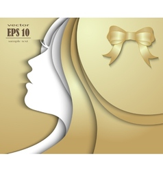 Beautiful girl with golden hair vector