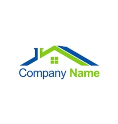 House roof abstract business company logo vector