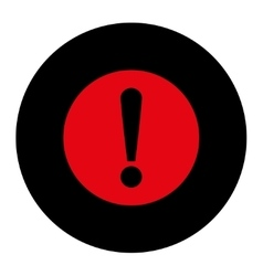 Problem flat intensive red and black colors round vector