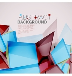Geometric shapes with sample text Abstract vector image