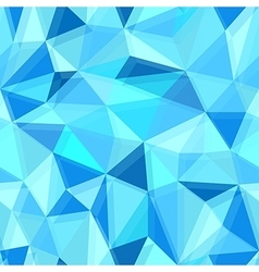 Blue seamless polygon pattern from triangles vector