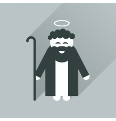 Flat icon with long shadow father of jesus christ vector