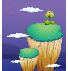 A very high land formation vector image