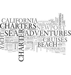 Adventures at sea newport beach text word cloud vector