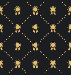Award badge seamless pattern vector