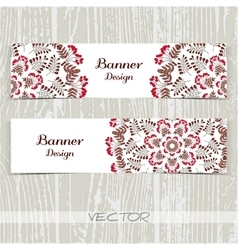 Banners Ornament Red Berries vector image