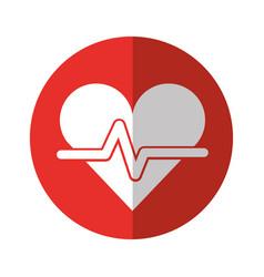 Cardiology heart beat vector