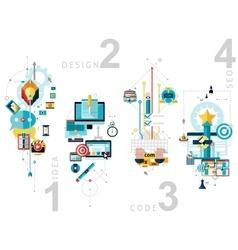 Creative process banners set vector
