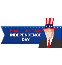 Donald trump independence day vector