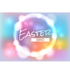 Easter Service Glow vector image vector image
