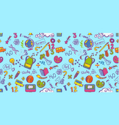 education seamless colorfull pattern vector image vector image