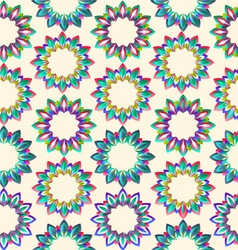 flower geometric floral beautiful vector image vector image