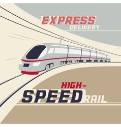 High-speed rail vector