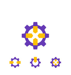 Integration icons on white vector