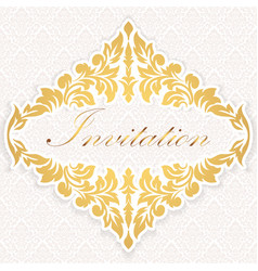 invitation cards or wedding card vector image