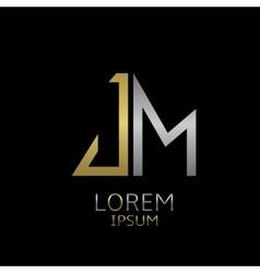 JM letters logo vector image vector image