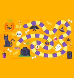 kids halloween game template vector image